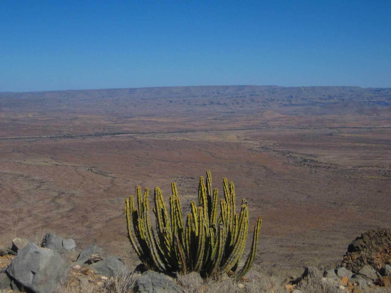 Ausblick auf den östlichen Rand der Namib vom Rand des Naukluft Massifs