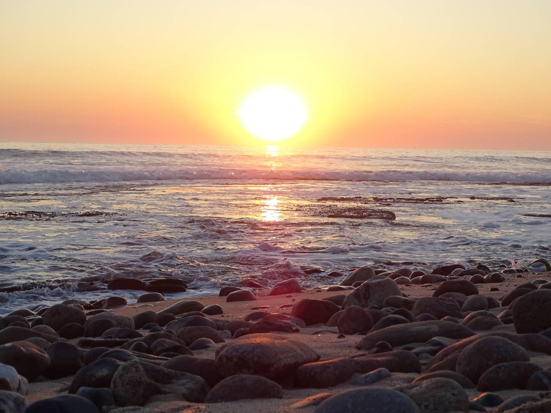 Sonnenuntergang am Atlantischen Ozean in Swakopmund