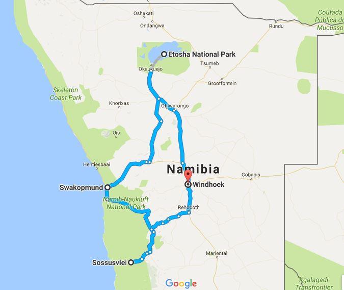 Yoga Safari Namibia 10 Tage - Tourverlauf
