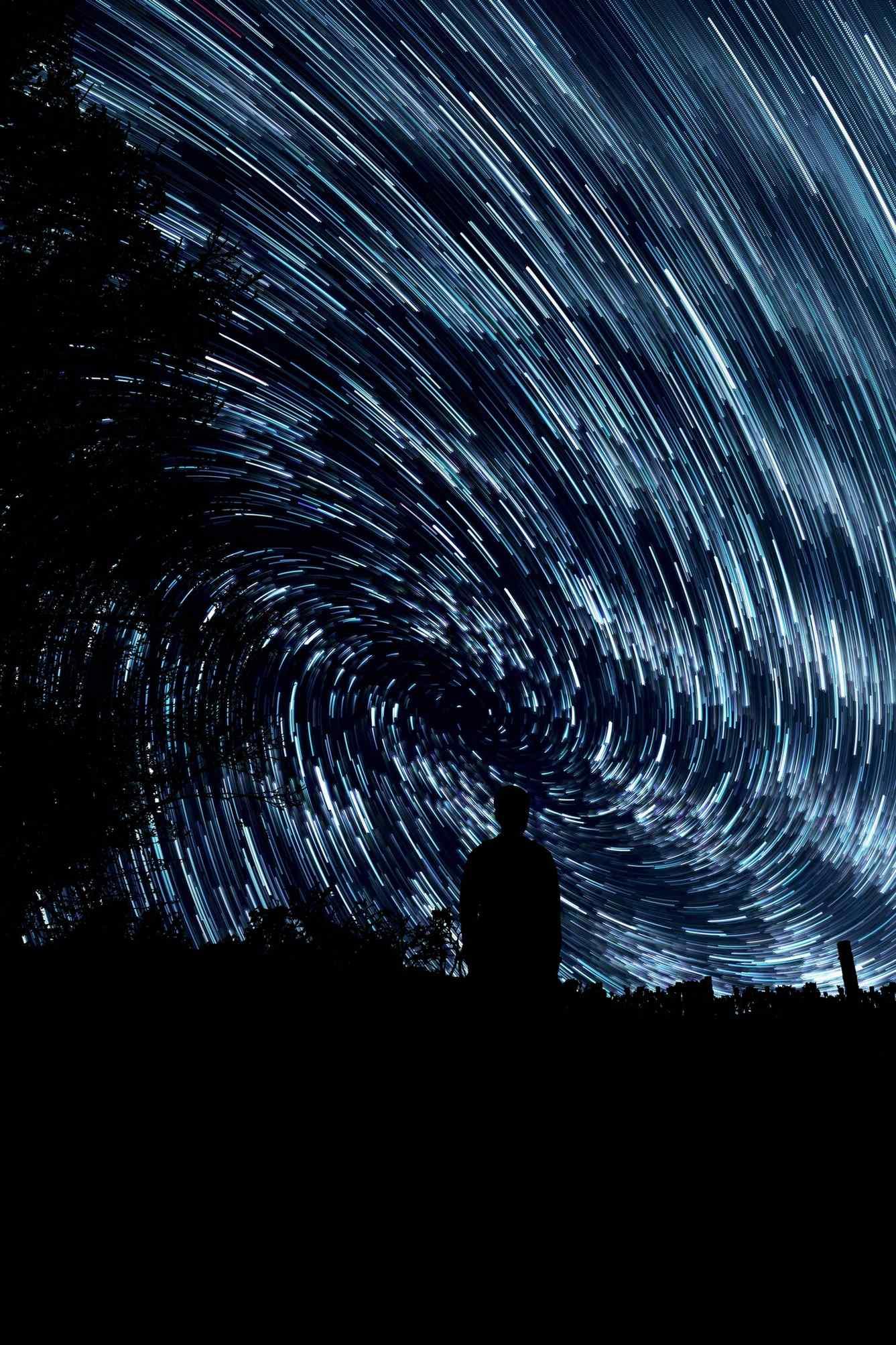Blick auf den Sterrnenhimmel