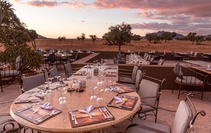 Yoga Reise Namibia - Sossusvlei Lodge Restaurant