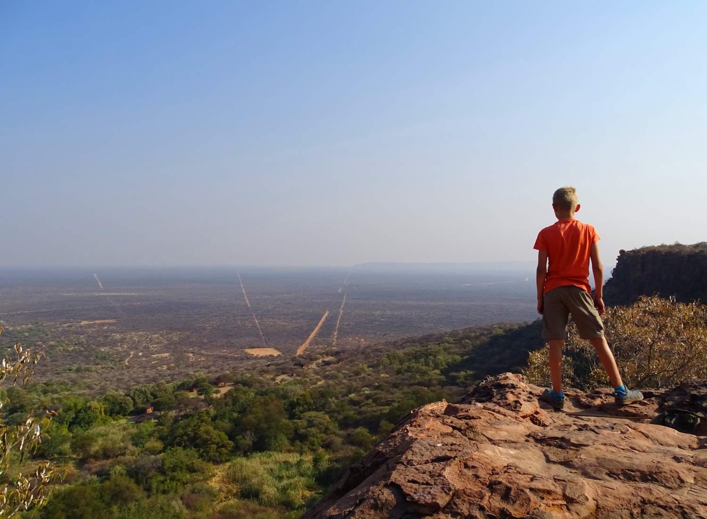 Aussicht vom Waterberg Plateau über die Omaheke nach Botswana