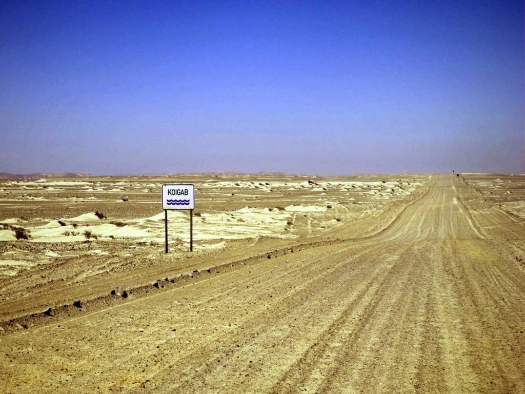 Strasse im Skeleton Coast Park