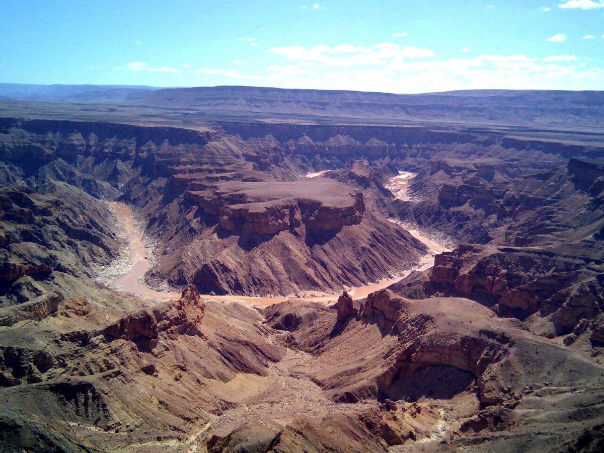 Der Blick hinunter in den Fischfluss Canyon
