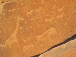 Lion Man Felsgravur in Twyfelfontein