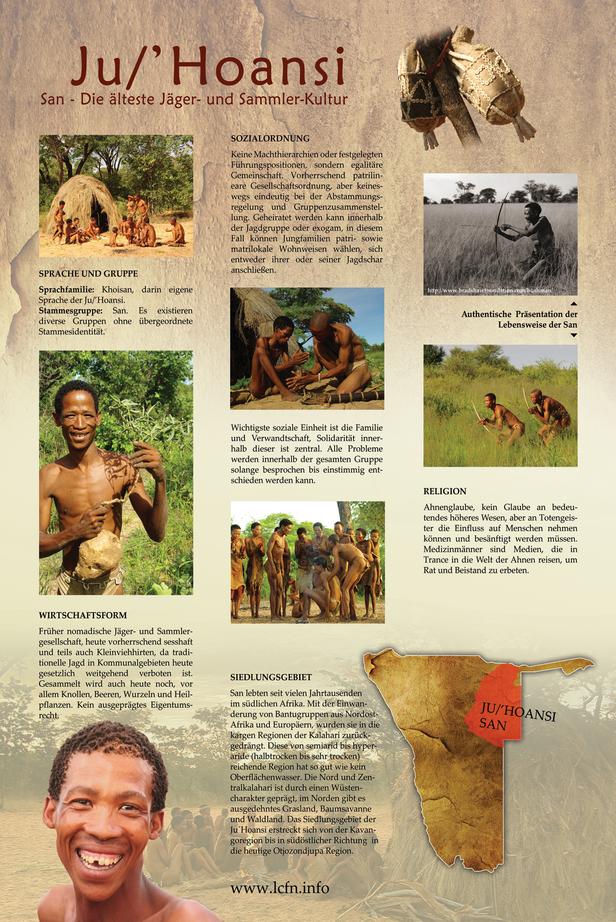 Informationen über die Ju/'Hoansi C) Living Culture Foundation LCFN