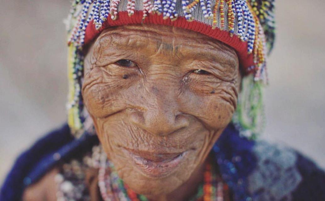 Portrait einer San Frau