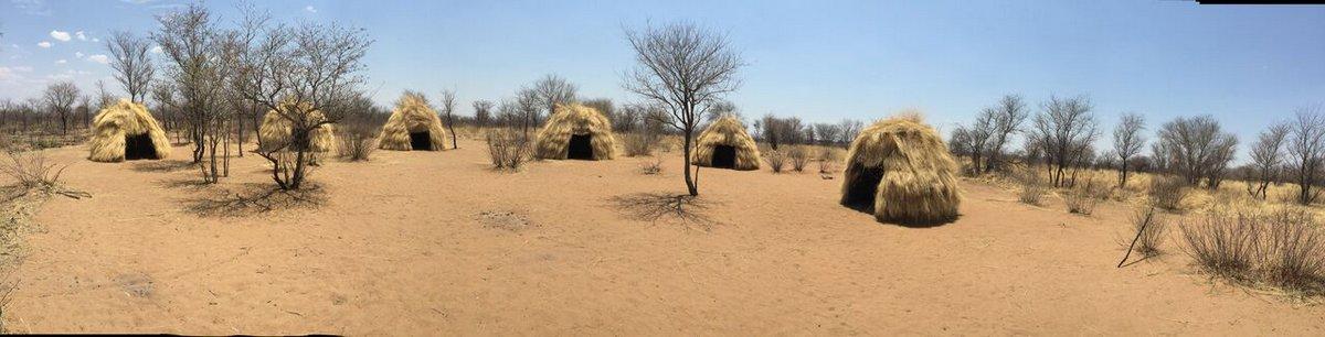 Traditionelle Hütten der San
