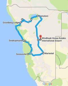 Tourverlauf - Namibia's Nordwesten