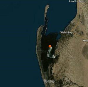 Landkarte der Lagune von Walvis Bay