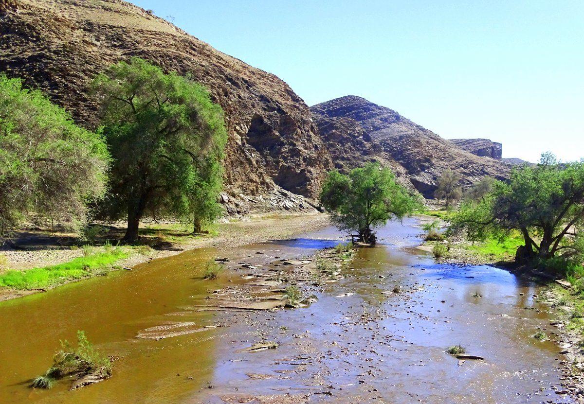 Kuiseb_Trockener Fluss in Namibia mit Wasser_DSC00915