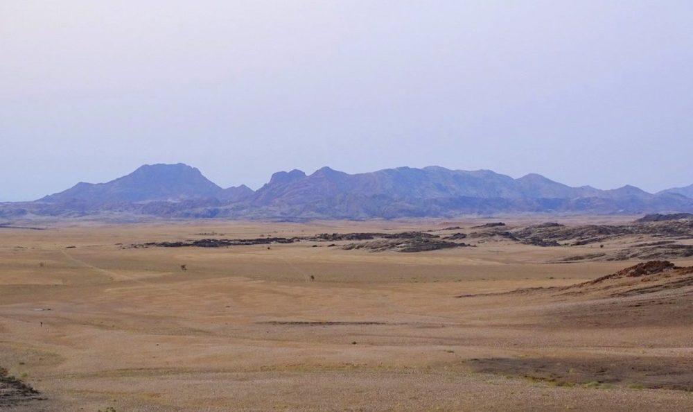 Landschaft in der Namib in den normalen Braun-Tönen