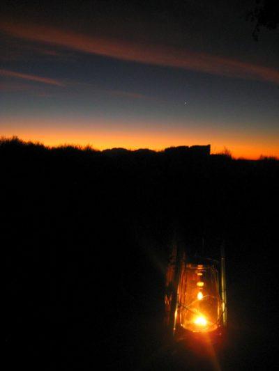 Stimmungsvolle Abende im Camp
