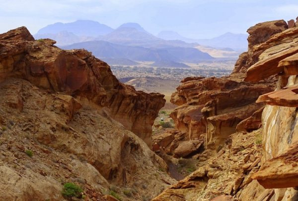 Ausblick vom Canyon am Huab