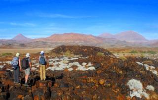 Wanderer im Damaraland